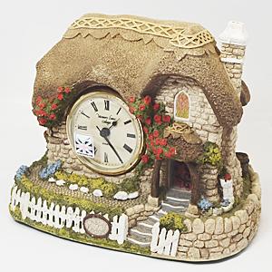 【ネイチャークラフト 置時計】石製 ■イギリス製 MemoryLaneCottage GK201A【楽ギフ_包装選択】