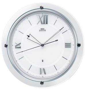 ■SEIKO[セイコー] 衛星電波 掛時計【EMBLEM エムブレム】ホワイト HS549W【楽ギフ_包装選択】