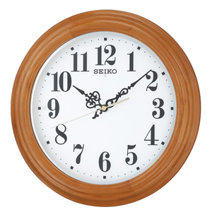 ■セイコー SEIKO【電波掛時計】自動点灯 木枠 薄茶 KX228A [代引不可]【楽ギフ_包装選択】.