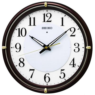 ■SEIKO[セイコー] 電波掛時計【ファインライト NEO】夜間自動点灯 茶メタリック KX233B [代引不可]【楽ギフ_包装選択】