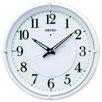 ■SEIKO[セイコー] 電波掛時計【ファインライト NEO】夜間自動点灯 白パール KX233W [代引不可]【楽ギフ_包装選択】