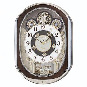 ■セイコ-【電波掛け時計 からくり時計】回転飾り メロディ付き RE578B [代引不可]【楽ギフ_包装選択】.
