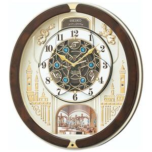 ■セイコ-【電波掛け時計 からくり時計】回転飾り メロディ付き RE579B [代引不可]【楽ギフ_包装選択】