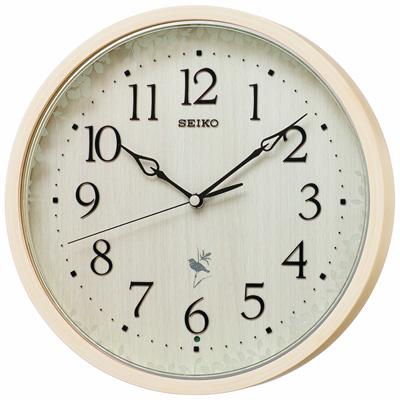 ◆SEIKO[セイコー] 電波掛時計【ナチュラルスタイル 鳥の鳴き声】木枠 天然色木地 RX215A [代引不可]【楽ギフ_包装選択】.