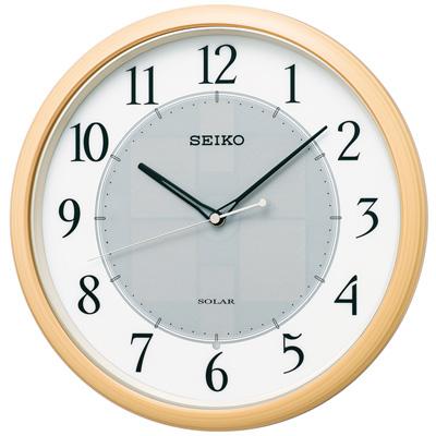 【正規品質保証】 ■SEIKO[セイコー] 電波掛時計【ソーラープラス】薄茶木目調 SF243B【楽ギフ_包装選択】, リカオー:a190bfb4 --- gamedomination.xyz