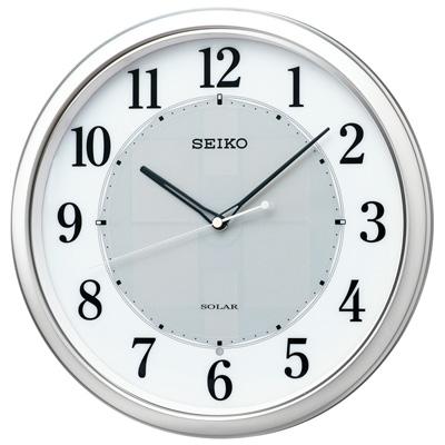 ■SEIKO[セイコー] 電波掛時計【ソーラープラス】銀色メタリック SF243S [代引不可]【楽ギフ_包装選択】