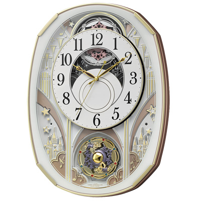 ■リズム時計 電波掛け時計【スモールワールドノエルS】からくり時計 4MN551RH03 [代引不可]【楽ギフ_包装選択】.