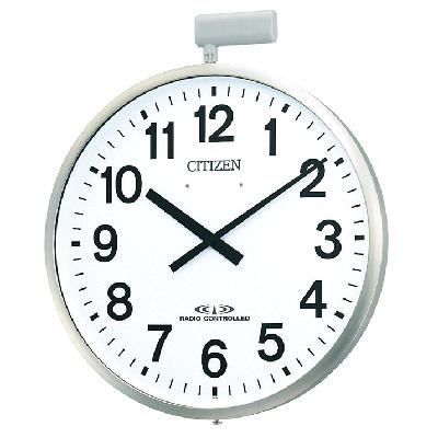 [代引き不可] リズム時計■屋外用電波時計[ポール取り付けタイプ] 径500mm 防雨型 4MY611-N19【楽ギフ_包装選択】.