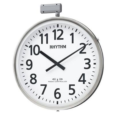[代引き不可] リズム時計■屋外用電波時計[ポール取り付けタイプ]【ムーンライトN】径500mm 防雨型 暗所自動点灯 4MY812RH19【楽ギフ_包装選択】.