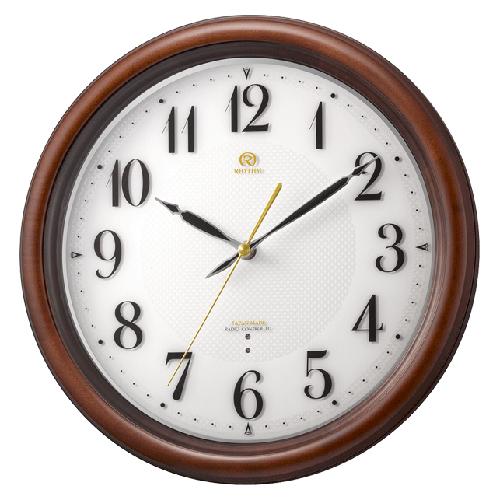 ■リズム時計 高感度電波掛時計 スリーウェイブ【RHG-M009】木枠 4MY850HG06 [代引不可]【楽ギフ_包装選択】