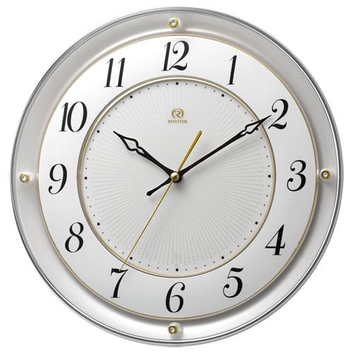 ■リズム時計 電波掛時計【RHG-M111】白パール色 4MY858HG03 [代引不可]【楽ギフ_包装選択】