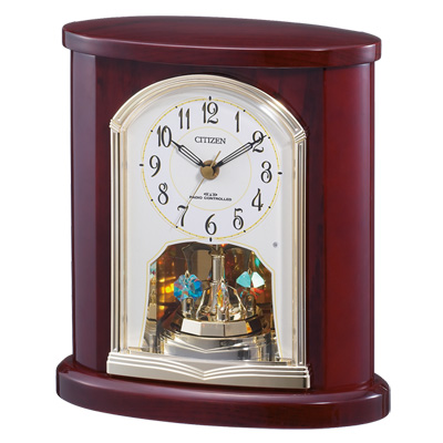 ■CITIZEN シチズン【電波置時計】木枠 回転飾り 4RY681-N06 [代引不可]【楽ギフ_包装選択】.