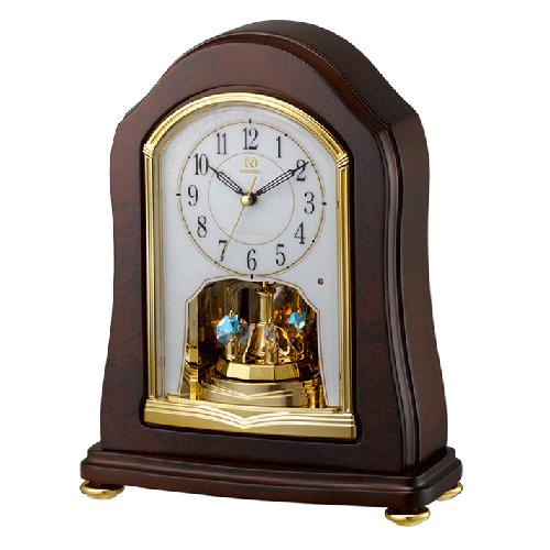 ■リズム時計 電波置時計【RHG-S53】回転飾り 木枠 4RY688HG06 [代引不可]【楽ギフ_包装選択】.