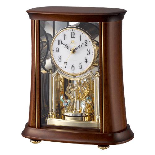 ■リズム時計 電波置時計【RHG-S68】回転飾り 木枠 4RY699HG06 [代引不可]【楽ギフ_包装選択】.