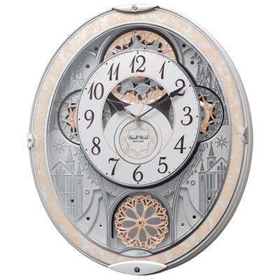 ■リズム時計【スモールワールドノエルNS】電波掛時計 からくり時計 メロディ48曲 8MN407RH03 [代引不可]【楽ギフ_包装選択】