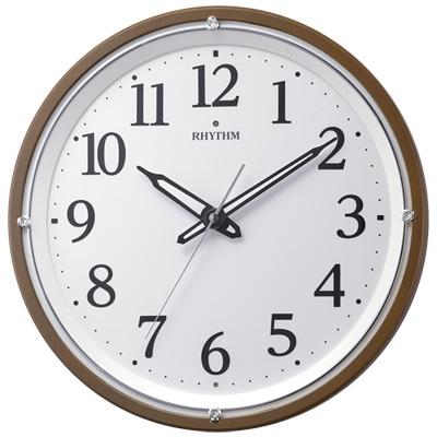 ■リズム時計【リバライト 532】電波掛時計 暗所自動点灯 連続秒針 8MY532SR06 [代引不可]【楽ギフ_包装選択】.