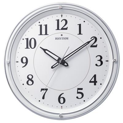 ■リズム時計【リバライト 533】電波掛時計 暗所自動点灯 連続秒針 8MY533SR03 [代引不可]【楽ギフ_包装選択】.