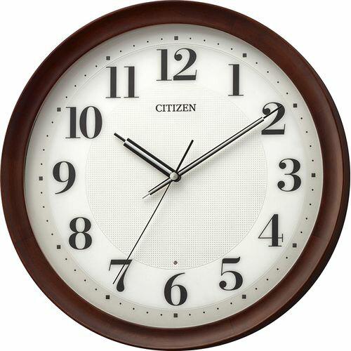 ■CITIZEN[シチズン] 電波掛時計 木枠 丸型 8MY554-006 [代引不可]【楽ギフ_包装選択】.