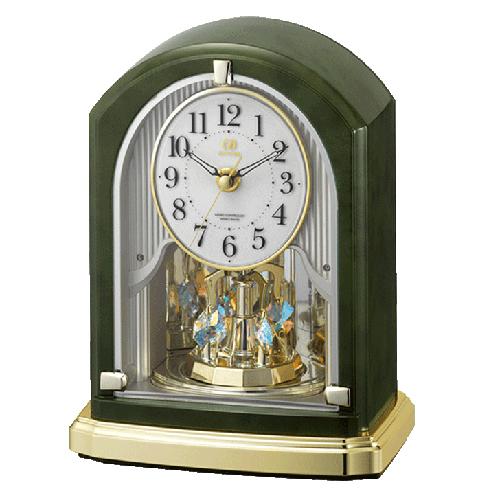 ■リズム時計 電波置時計【RHG-S74】回転飾り メロディ付き 8RN403HG05 [代引不可]【楽ギフ_包装選択】.