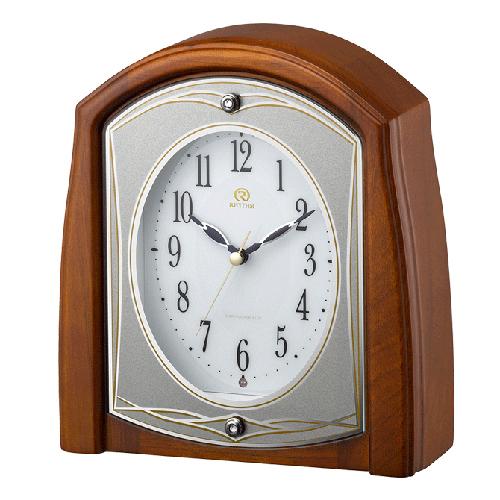 ■リズム時計 電波置時計【RHG-S56】木枠 8RY402HG06 [代引不可]【楽ギフ_包装選択】.