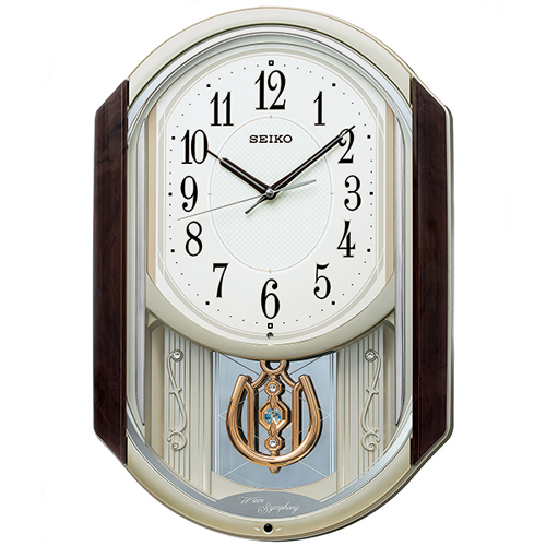 ☆15%OFF ラッピングサービス ■SEIKO セイコー 電波掛時計 振子時計 . 楽ギフ_包装選択 AM264B おすすめ メロディ付き 新登場 後払不可