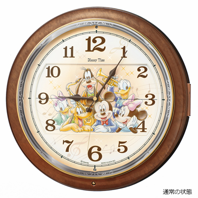 [代引き不可]■SEIKO セイコー ディズニータイム からくり時計 掛時計【ミッキー&ミニー 電波時計】メロディ付 FW587B【楽ギフ_包装選択】.
