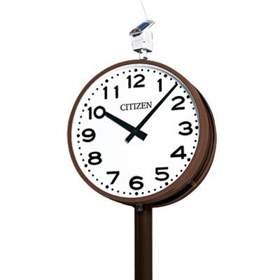 シチズン■屋外用電波時計 ソーラー電波ポール時計【OUTDOOR CLOCK SLシリーズ 丸形 2面】径700mm SL-702E [代引不可]【ギフト不可】.