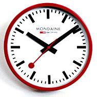◆正規品◆モンディーン(MONDAINE)【ウォール クロック(壁時計)レッド】A990.CLOCK.11SBC [代引不可]【楽ギフ_包装選択】