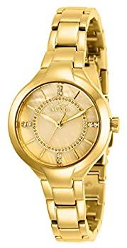 【中古】【輸入品・未使用】Invicta Women's 29322 Angel Quartz 3 Hand Gold Dial Watch