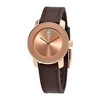 【中古】【輸入品・未使用】Movado Women's Bold 30mm Brown Leather Band Case Swiss Quartz Chronograph Watch 3600438