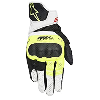 中古 輸入品 商品 未使用 Alpinestars sp-5メンズStreet手袋???ブラック X-Large 蛍光イエロー 3301-3051 舗 ホワイト