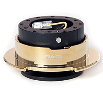 中古 輸入品 未使用 NRG マーケティング 2.5ステアリングホイールクイックリリースブラックボディwithクロームゴールドリングsrk-250bk-c Gen 激安通販販売 GD