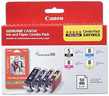 中古 輸入品 未使用 Canon 至上 Inks Paper Pack CLI-I8 PGI-5 Cyan Magenta Yellow Black 低廉