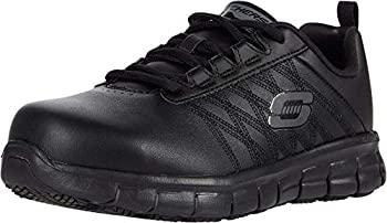 中古 輸入品 直営店 未使用 Skechers Work Sure 全品最安値に挑戦 Track-Martley Women's M Black 6 US Oxford B