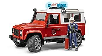 中古 お求めやすく価格改定 輸入品日本向け ブルーダー Land Rover BR02596 2020新作 フィギュア付き Def.ワゴン消防カスタム