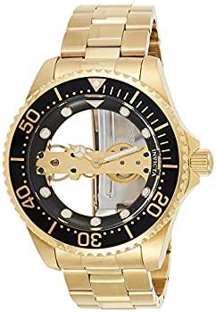 中古 輸入品 未使用 Invicta Pro Diver Mens 予約販売 47mm Bracelet Bridge Gold-Plated Mechanical Watch Ghost Steel Stainless 商舗
