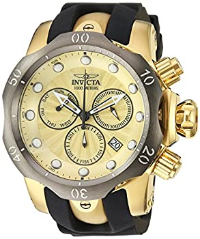 中古 輸入品 未使用 Invicta 激安格安割引情報満載 Men's 24258 Venom Quartz Watch メーカー直売 Chronograph Dial Gold