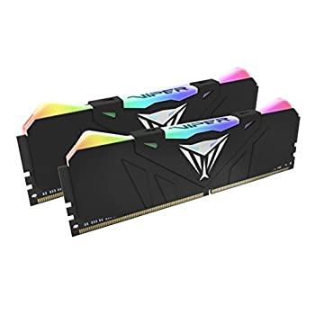 中古 輸入品 未使用 Patriot Memory Viper RGB Series DDR4 4133MHz 16GBキット 永久保証 PVR416G4 ブラックヒートシンク ファクトリーアウトレット x 8GB デスクトップ用メモリ PC4-33000 セールSALE%OFF 2
