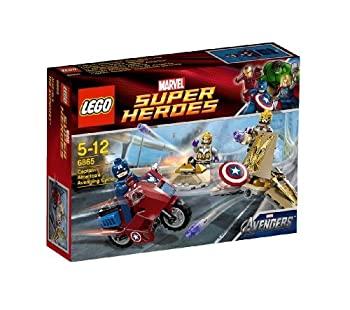 中古 輸入品 未使用 レゴ LEGO スーパー 新色追加して再販 キャプテン TM 使い勝手の良い アベンジングサイクル ヒーローズ 6865 アメリカ