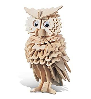 中古 輸入品 未使用 Owl - 3D Puzzle ランキングTOP10 Wooden Kit Woodcraft Jigsaw 在庫処分