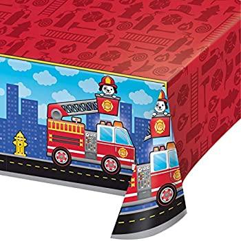中古 輸入品 未使用 消防車 新入荷 初回限定 流行 プラスチックテーブルクロス 3枚