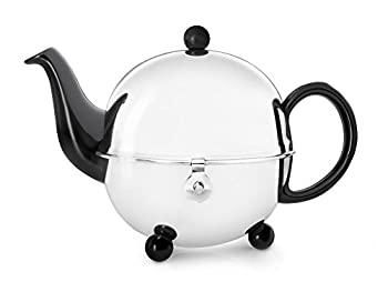 中古 輸入品 未使用 Black 0.9 L - 新発売 人気商品 Cosy Teapot Ceramics Stainless Steel Bredemeijer