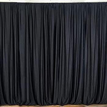 中古 輸入品 未使用 New 公式ストア Creations Fabric Foam Inc 年間定番 幅10フィー バックドロップドレープカーテンパネル x 高さ9フィート 幅10フィート ブラック ポリエステル -