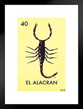 中古 輸入品 未使用 優先配送 ポスター Foundry 40 El Alacran Scorpion ブラック ロテリア 大放出セール カード inches メキシカンビンゴ 393546 Loteria 20x26
