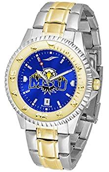 中古 輸入品 未使用 Morehead Men 25%OFF University 毎日続々入荷 State 'sステンレススチールとゴールドトーン腕時計