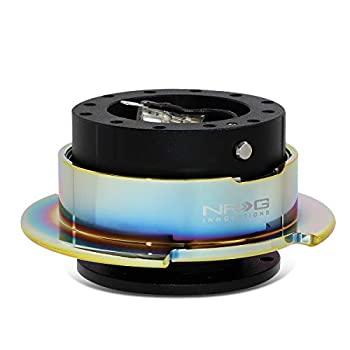 中古 輸入品 未使用 NRG 送料無料でお届けします Gen 2.5 国内即発送 ステアリングホイール リング ブラックボディ SRK-250BK-C クイックリリース MC ネオクローム