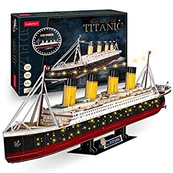 中古 輸入品 未使用 3D Puzzle Titanic LED Ship 34.6'' Large Model Kits and Valenti Collection Puzzles Adults Paper Huge 通販 激安◆ for Jigsaw 訳あり商品 Kids Watercraft