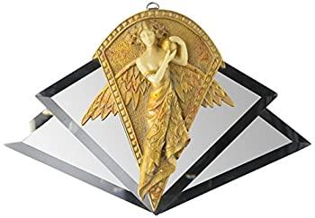 中古 輸入品 未使用 Design Toscano ミラーウォール彫刻 Art Nouveau PD0441 超歓迎された 天使