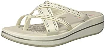 春の新作 中古 輸入品 未使用 ブランド買うならブランドオフ Skechers レディース アップグレード ダズル タイム ビーチサンダル 11 マルチストラップ US ホワイト サイズ: カラー: ラインストーン