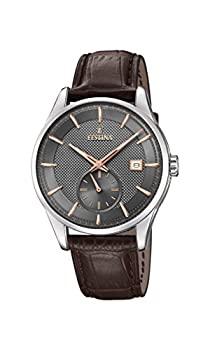 中古 輸入品 未使用 好評受付中 Festina F20277 レザーストラップ付き アナログクォーツ腕時計 メンズ 3 日本産